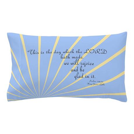 Psalms 118 24 Bible Verse Pillow Case