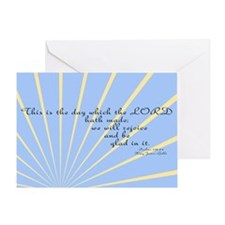 Psalms 118 24 Bible Verse Greeting Card