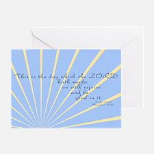 Psalms 118 24 Bible Verse Greeting Card