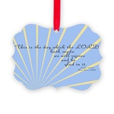 Psalms 118 24 Bible Verse Picture Ornament