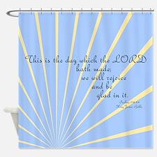 Psalms 118 24 Bible Verse Shower Curtain