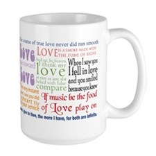 Shakespeare on Love Mug