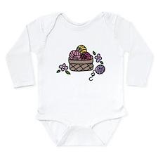 Knitting Yarn Long Sleeve Infant Bodysuit