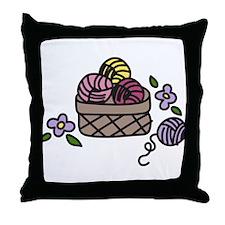 Knitting Yarn Throw Pillow