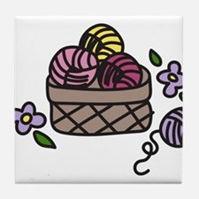 Knitting Yarn Tile Coaster