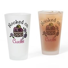 Hooked On Crochet Drinking Glass