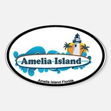 Amelia Island - Surf Design. Decal