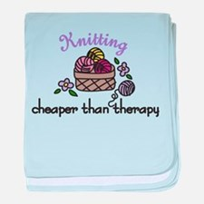 Cheaper Than Therapy baby blanket