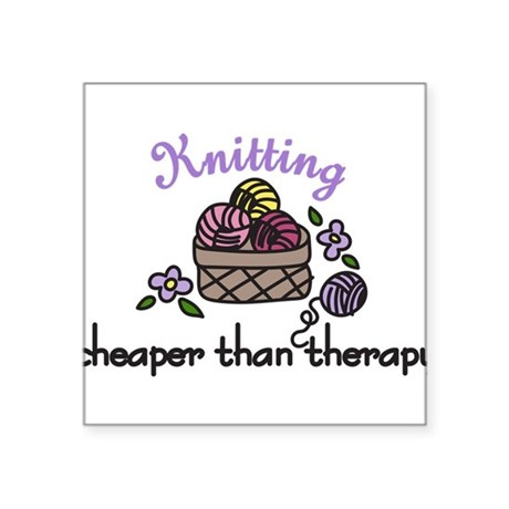 """Cheaper Than Therapy Square Sticker 3"""" x 3"""""""