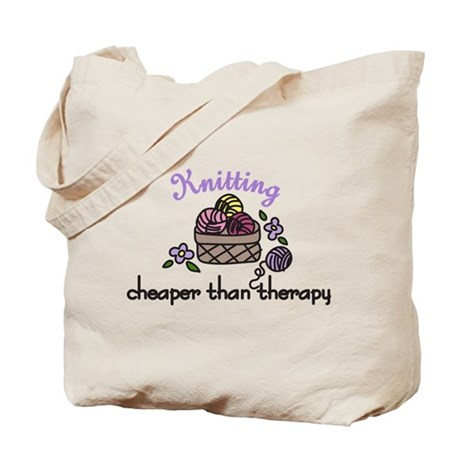 Cheaper Than Therapy Tote Bag