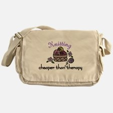 Cheaper Than Therapy Messenger Bag