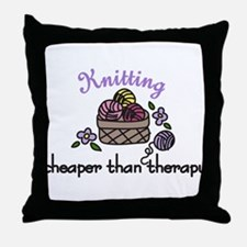Cheaper Than Therapy Throw Pillow