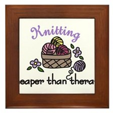 Cheaper Than Therapy Framed Tile