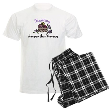 Cheaper Than Therapy Men's Light Pajamas
