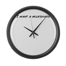 Milkshake Large Wall Clock