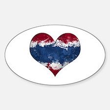 Thailand heart Sticker (Oval)