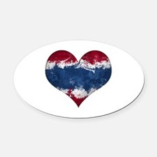 Thailand heart Oval Car Magnet