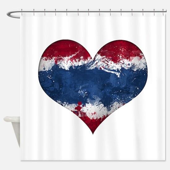 Thailand heart Shower Curtain