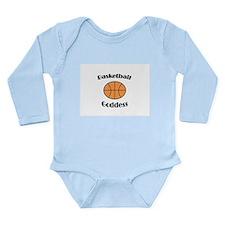 Basketball Goddess Long Sleeve Infant Bodysuit