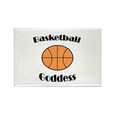 Basketball Goddess Rectangle Magnet