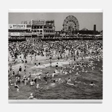 """Coney Island """"The Past"""" Tile Coaster"""