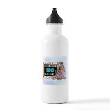 Bears 100 Days of School Water Bottle