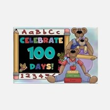 Bears 100 Days of School Rectangle Magnet