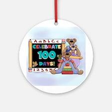 Bears 100 Days of School Ornament (Round)