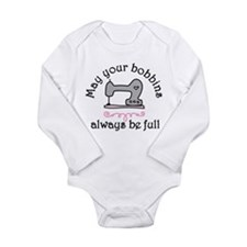 May Your Bobbins Long Sleeve Infant Bodysuit