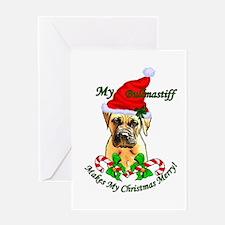 Bullmastiff Christmas Greeting Card