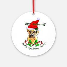 Bullmastiff Christmas Ornament (Round)