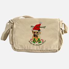 Bullmastiff Christmas Messenger Bag