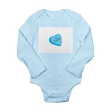 Ba Humbug Candy Heart Long Sleeve Infant Bodysuit