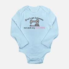 Don't Get Between Long Sleeve Infant Bodysuit
