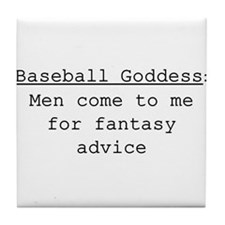 Baseball Goddess Definition Tile Coaster