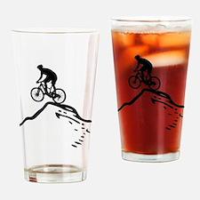 Cute Mountain biking Drinking Glass