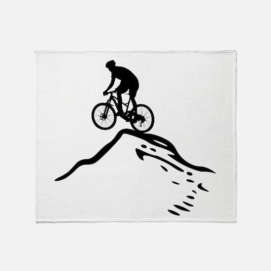 Cute Mountain biking Throw Blanket