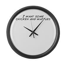 Cute Waffle Large Wall Clock