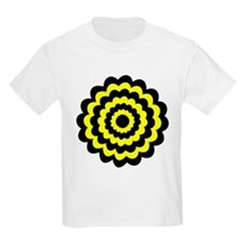 Yellow and Black Flower. T-Shirt