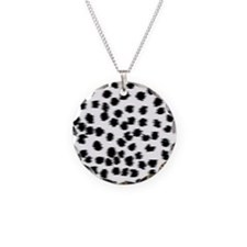 Dalmatian Pattern. Necklace Circle Charm