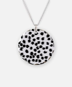 Dalmatian Pattern. Necklace Circle Charm