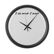 Funny I is what i is Large Wall Clock