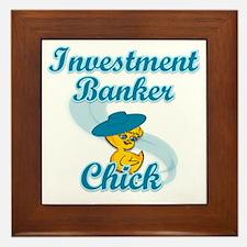 Investment Banker Chick #3 Framed Tile