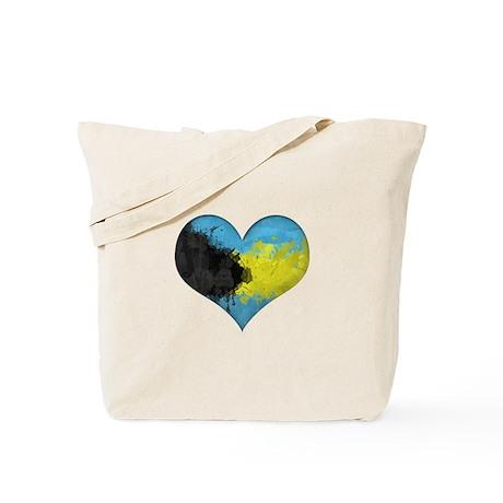 Bahamas Heart Tote Bag