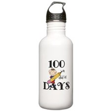 Stick Figure 100 Days Water Bottle