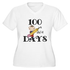 Stick Figure 100 Days T-Shirt