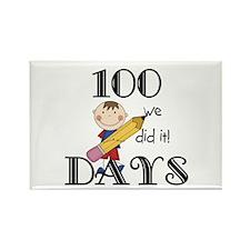 Stick Figure 100 Days Rectangle Magnet
