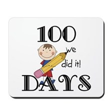Stick Figure 100 Days Mousepad