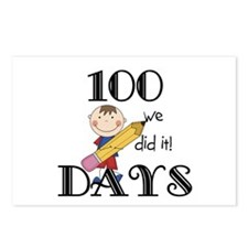 Stick Figure 100 Days Postcards (Package of 8)