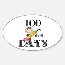 Stick Figure 100 Days Decal